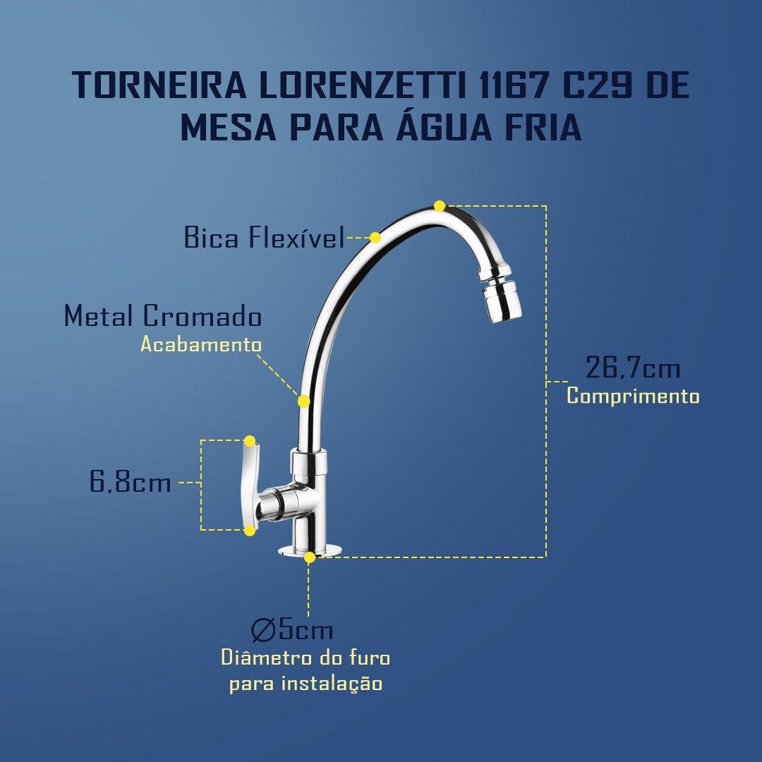 Medidas Torneira Lorezetti 1167 C29