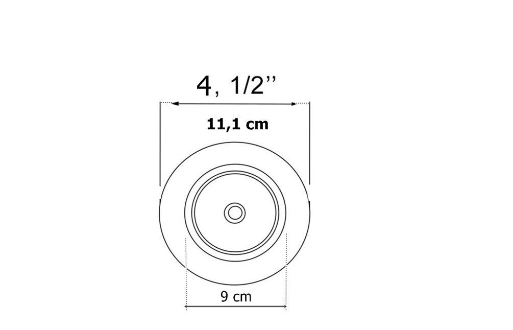 """Válvula Americana 4.1/2"""" (11,1cm) Para Cubas Furação Grande"""