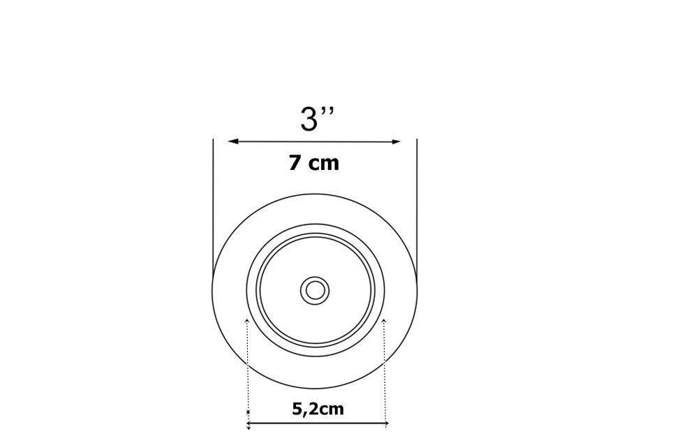 """Válvula Do Tanque Franke De 3"""" (7cm) Para o Tanque 50x40cm"""